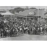 Trente mille africains en marche sur Cape Town, 28 mars 1960