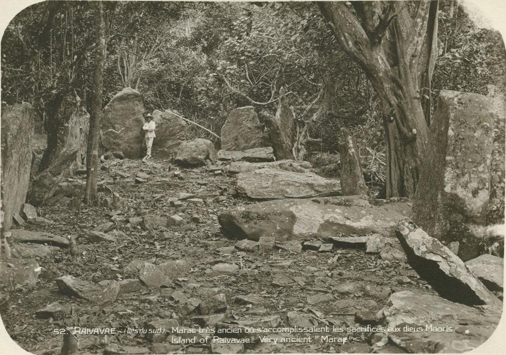 Un ancien 'marae' sur l'île de Raivavae (Archipel des Australes) / René Petit ([s.d.])