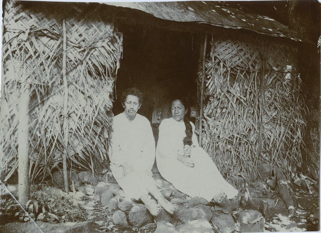Un couple de lépreux à Fautaua