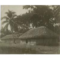 Une maison commune, village de Tautira, Tahiti