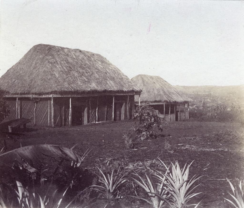 Village Bamoun sur la route Foumban - Ngambe (Nji Püte)