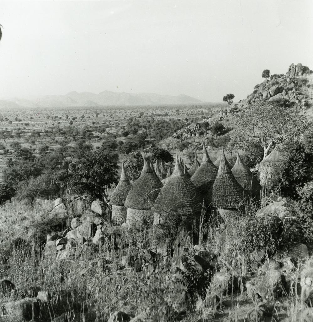 Village Kirdi, nord Cameroun