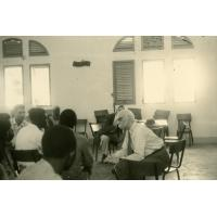 Visite de Marc Boegner au foyer de Libreville