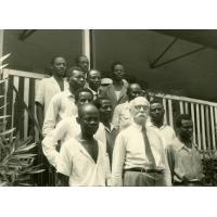 Voyage de Marc Boegner avec les pasteurs Samuel Ovone et Wora, et le moniteur Jean-Baptiste Adjaye