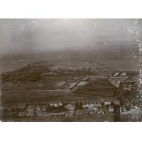 Vue aérienne sur la zone portuaire de la ville du Cap