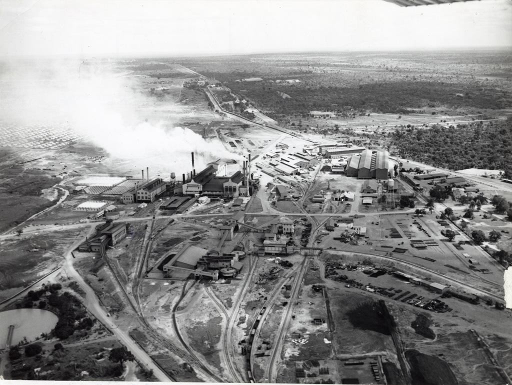 Vue aérienne sur une exploitation minière