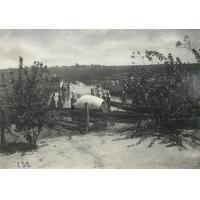 Vue de Lealui depuis la station de Loatibé au moment de l'inondation