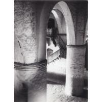 Vue du grand hall du palais de Foumban