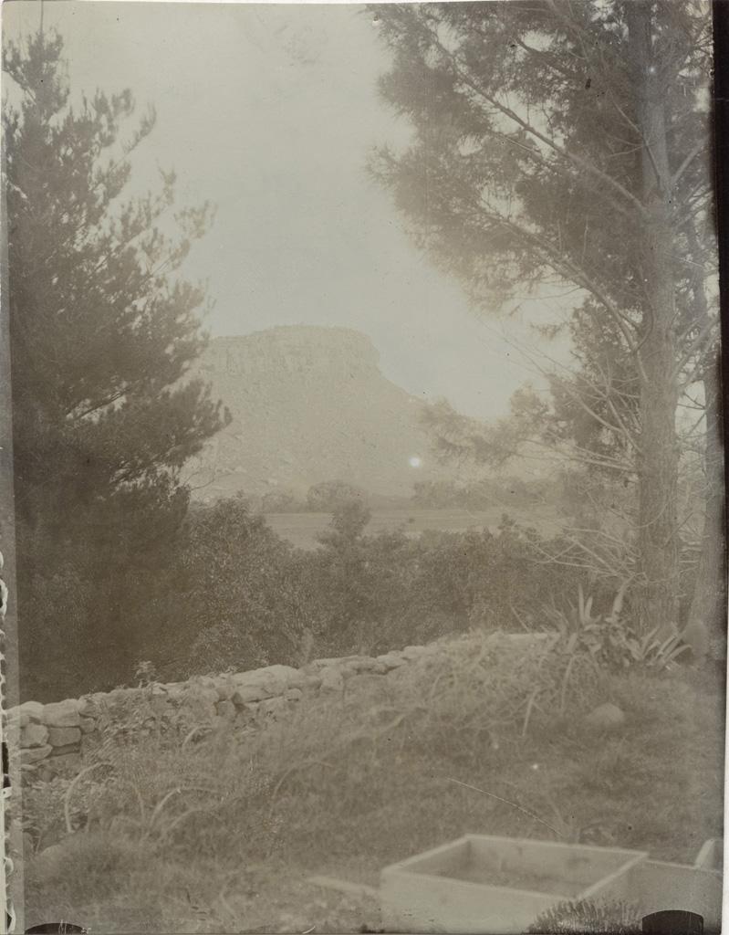 Vue prise de la vérandé de Mafube côté sud-est