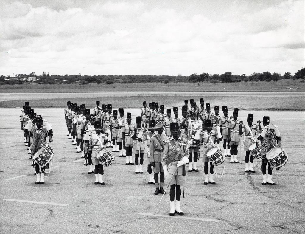musique du second bataillon, régiment de Zambie, à Lusaka